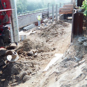 Millbourne Station Retaining wall drilling project